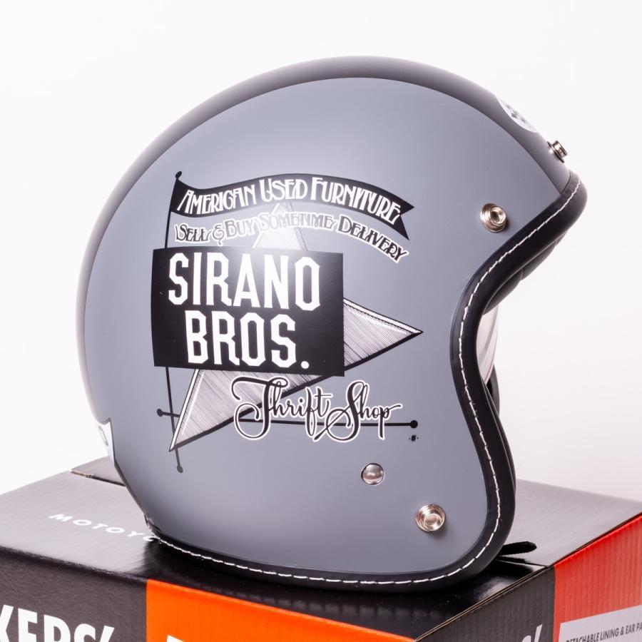 "SIRANO BROS. MOTORCYCLE EQUIPMENT - 3/4 OPEN FACE MOTORCYCLE HELMET ""Mr.T & Mr.Y"" シラノブロス|bk2bk|04"