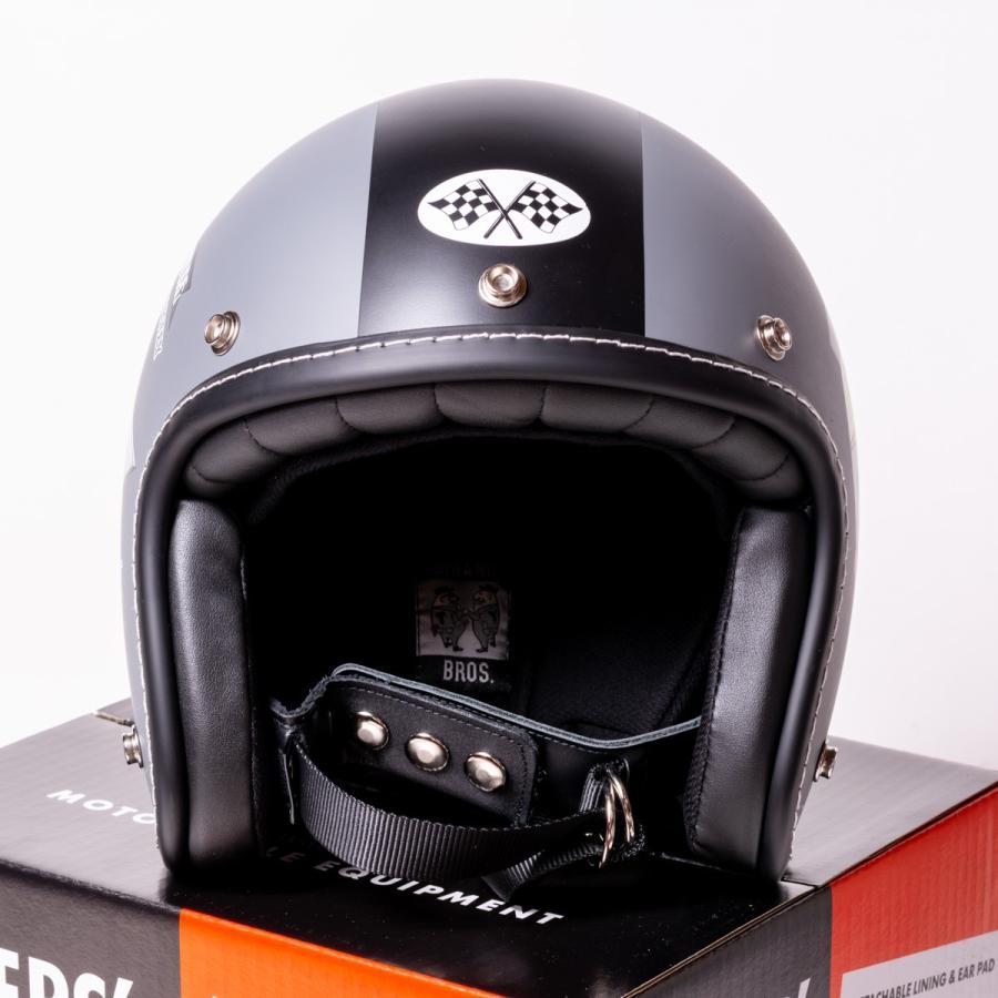 "SIRANO BROS. MOTORCYCLE EQUIPMENT - 3/4 OPEN FACE MOTORCYCLE HELMET ""Mr.T & Mr.Y"" シラノブロス|bk2bk|06"