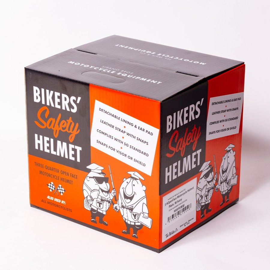 "SIRANO BROS. MOTORCYCLE EQUIPMENT - 3/4 OPEN FACE MOTORCYCLE HELMET ""SMOKERS M.C."" シラノブロス bk2bk 18"