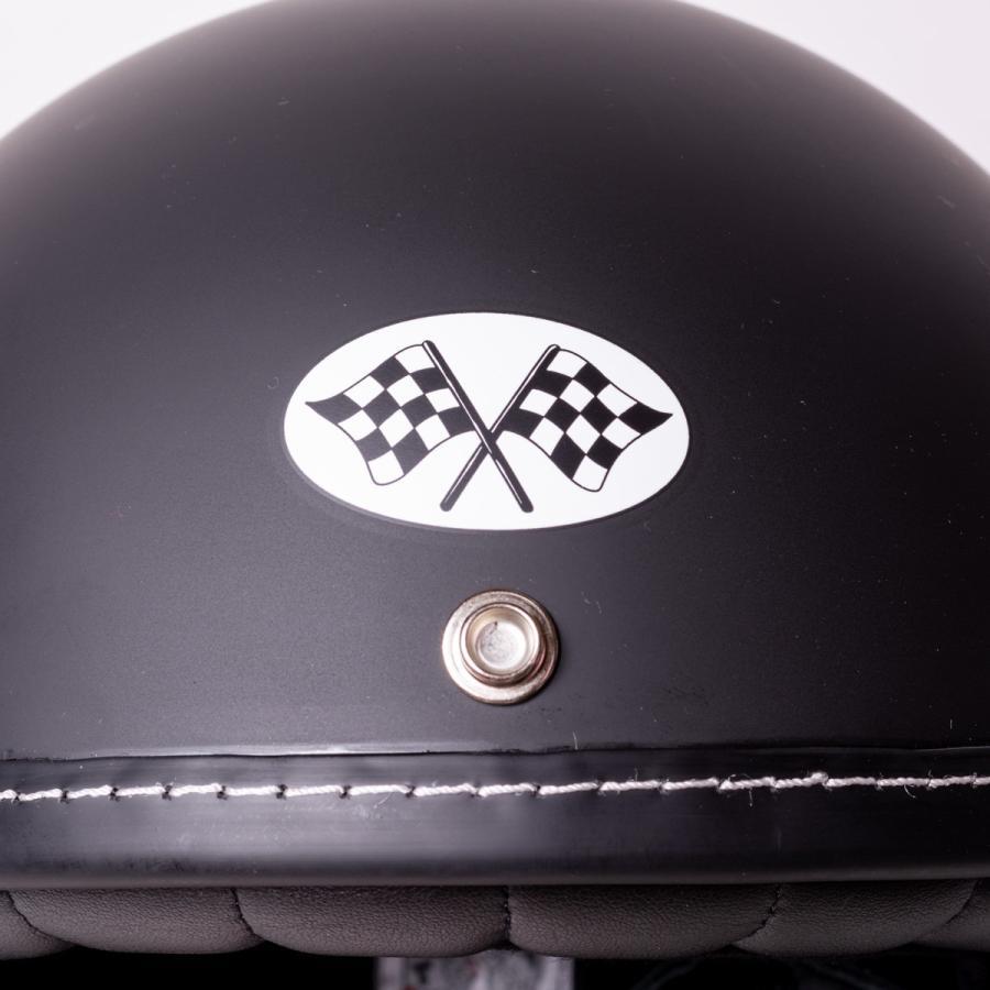 "SIRANO BROS. MOTORCYCLE EQUIPMENT - 3/4 OPEN FACE MOTORCYCLE HELMET ""SMOKERS M.C."" シラノブロス bk2bk 06"
