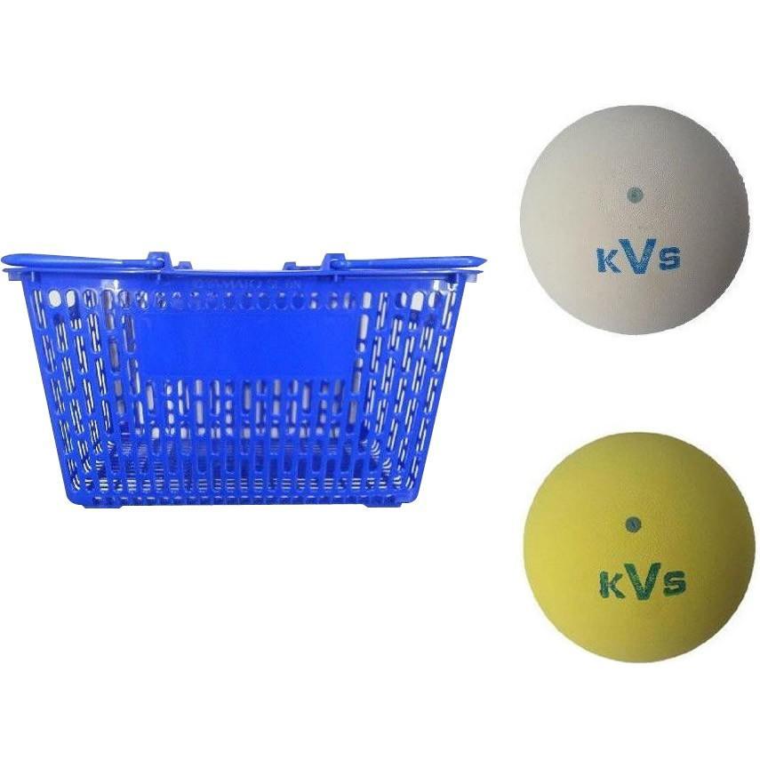 送料無料!! コクサイ KOKUSAI ソフトテニスボール練習球 10ダース(同色120個) カゴ付