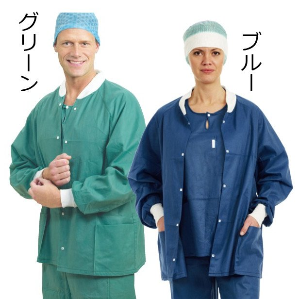 メンリッケヘルスケア 送料無料 バリアー ナースウェア ウォームアップジャケット 48枚 メンズ レディス 品番18001