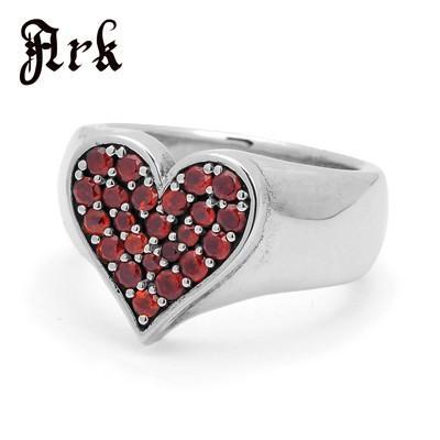 有名ブランド Ark silver accessories/ silver アークシルバーアクセサリーズ/ Ark スタイル オブ ハートリング ガーネット, StarMart:e304d392 --- airmodconsu.dominiotemporario.com