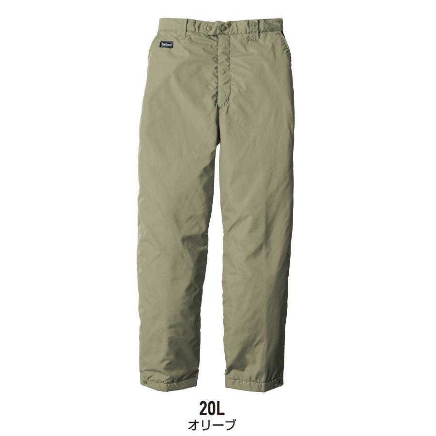 防寒着 メンズ 中綿パンツ ロング丈 軽量 撥水 作業服 作業着 ビッグボーン 8382L|blakladerjp|03