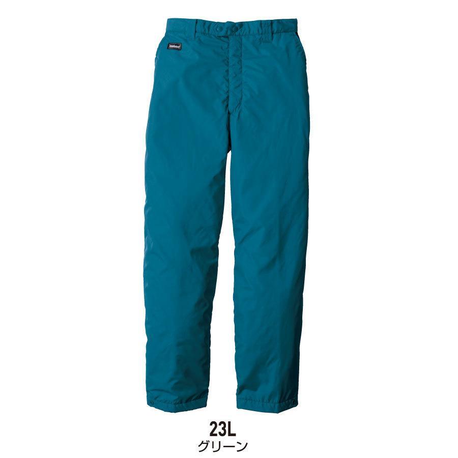 防寒着 メンズ 中綿パンツ ロング丈 軽量 撥水 作業服 作業着 ビッグボーン 8382L|blakladerjp|04