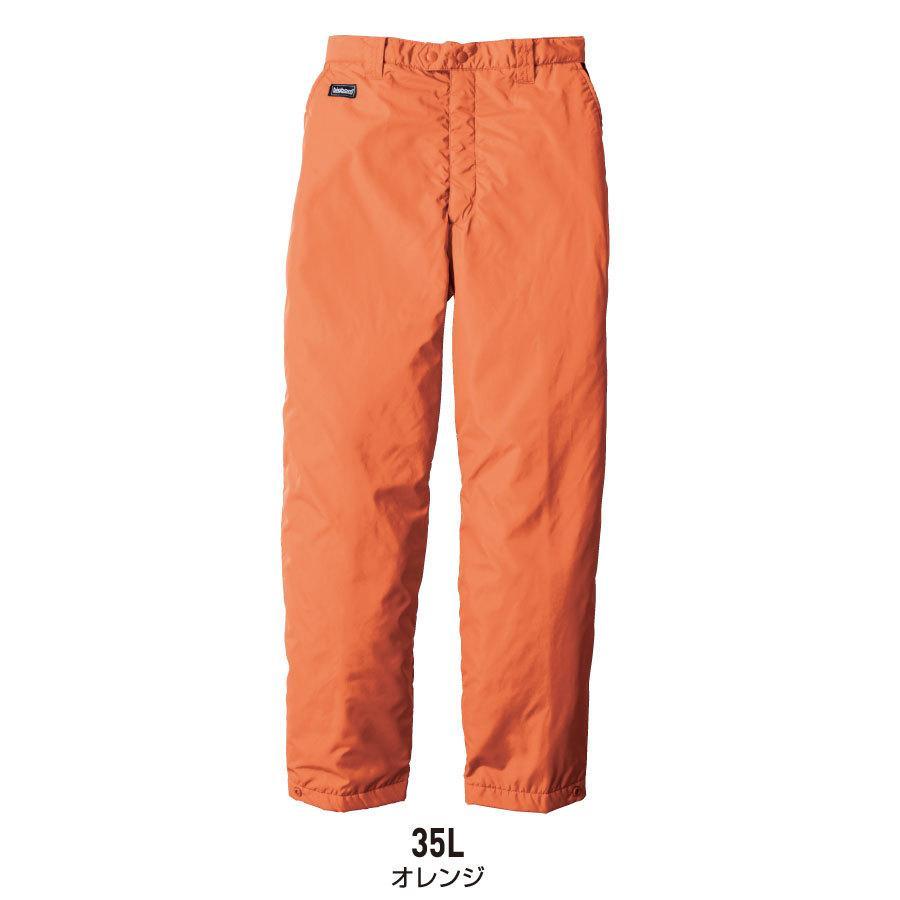 防寒着 メンズ 中綿パンツ ロング丈 軽量 撥水 作業服 作業着 ビッグボーン 8382L|blakladerjp|05