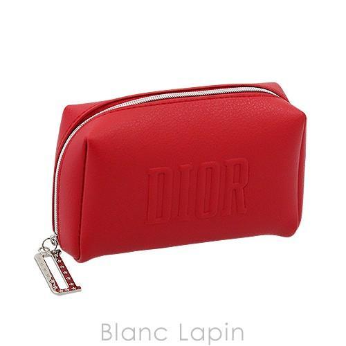 新色 新品 送料無料 ノベルティ クリスチャンディオール Dior コスメポーチスクエア 068466 #レッド