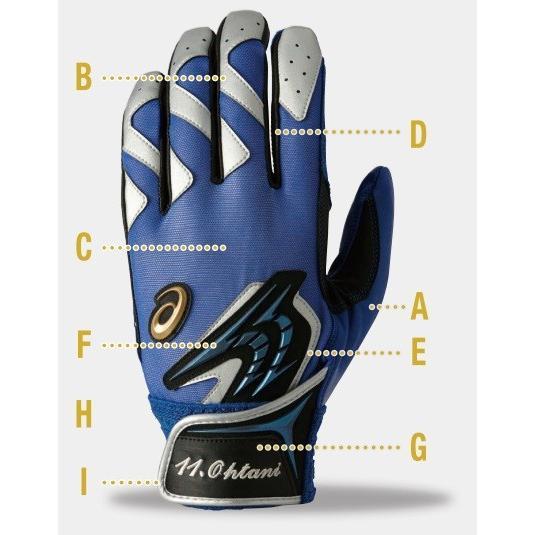 カスタム バッティング手袋 BEG15Sタイプ シンプルシープスムース 両手 アシックス 受注生産