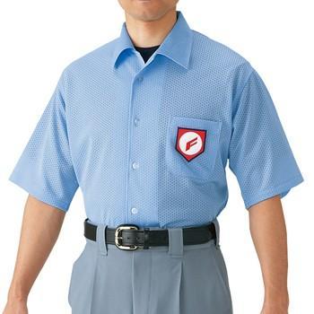 野球 高校野球・ボーイズリーグ審判員用 半袖シャツ(ノーフォーク型) ミズノ 52HU2418 取寄