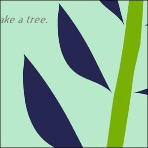 アートポスター 北欧スタイル A3サイズ 『Albero ブルー』 花,植物 インテリア おしゃれ Interior Art Poster|blankwall|02
