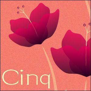 ポスター A2サイズ 『Cinq ピンク』 アート 花,植物 おしゃれポスター Interior Art Poster|blankwall|02