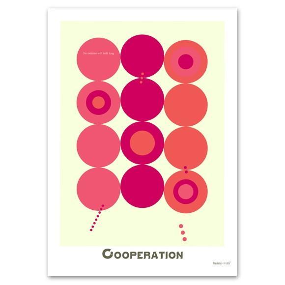 ポスター 北欧スタイル A3サイズ 『Cooperation ピンク』 おしゃれ インテリア ポップポスター Interior Art Poster|blankwall