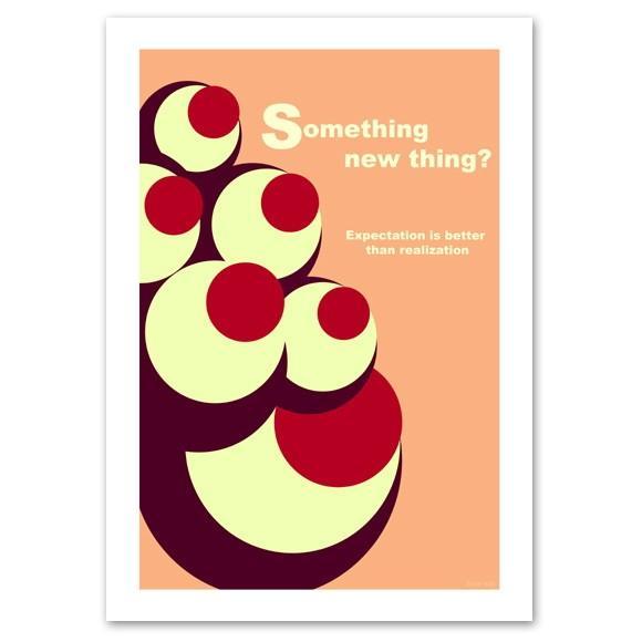 ポスター A3サイズ 『Eyes ピンク』 おしゃれ/北欧デザイン/ポップポスター/Interior Art Poster|blankwall