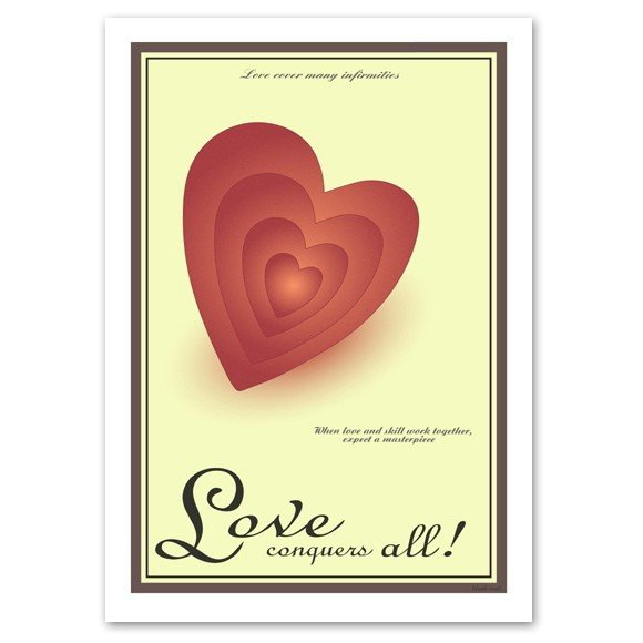 ポスター A3サイズ 『Heart』 ハート/おしゃれ/ポップポスター/Interior Art Poster blankwall