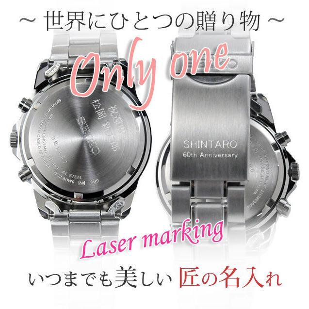 メンズ腕時計 還暦祝い 男性 プレゼント 腕時計 匠の名入れ付 赤色 セイコー クロノグラフ SEIKO SBTQ045 blessyou 04