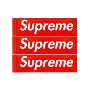 Supreme シュプリーム Box Logo ステッカー 正規品 爆買いセール 専門店 19cm X 5.7cm サイズ 3枚