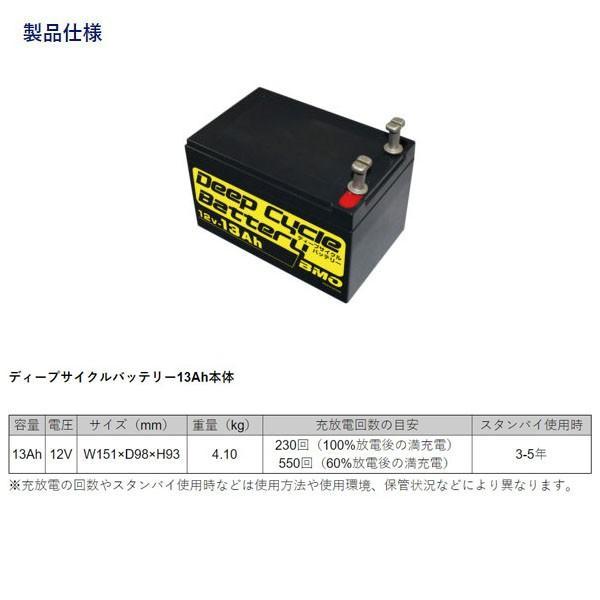 BMO JAPAN ディープサイクルバッテリー13Ah 本体・チャージャー・バッグセット 電動リールバッテリー 10Z0001 BMOジャパン BMD13SET blissshop 03