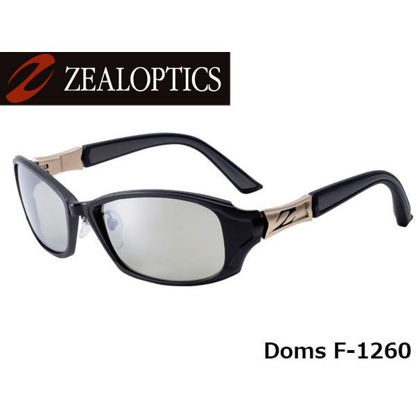 ジールオプティクス ZEAL OPTICS 偏光サングラス ドムス F-1260 ブラック×ゴールド トゥルービュースポーツ×シルバーミラー GLE4580274162896