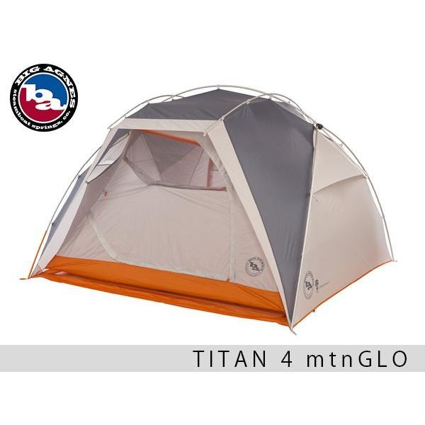 ビッグアグネス タイタン 4 mtnGLO テント ファミリーテント フライシート タープ 3人用 4人用 マウンテングローテント シェルター 日よけ 雨よけ 海 山 TT418