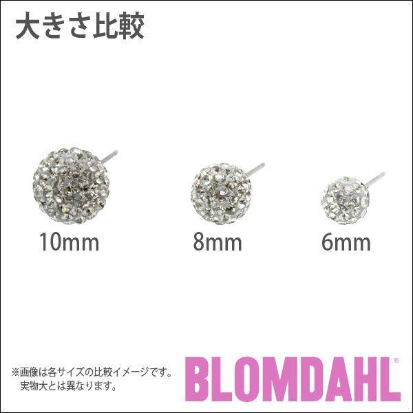 ピアス アレルギー対応 純チタン クリスタルボール 10mm ブラックダイヤモンド レディース 15-1270-12|blomdahljapan|05