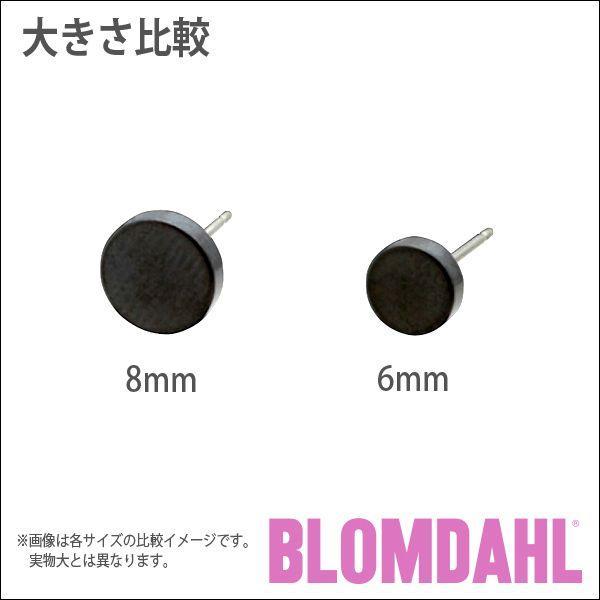 ピアス アレルギー対応 純チタン ブラック 6mm パック レディース 15-1576-00|blomdahljapan|05