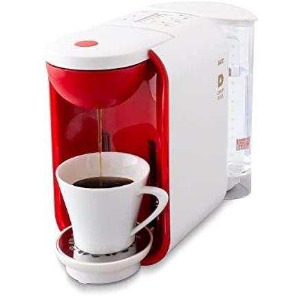 UCC コーヒーメーカー [ドリップポッド] 本格 ドリップコーヒー カプセル式 (ホワイト×レッド) (ホワイトxレッド 5-6カップ)|bluebird-shoji