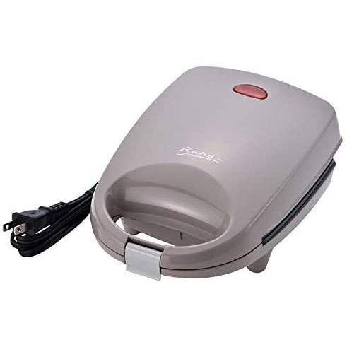 和平フレイズ ワイドホットサンドメーカー S おやつ ランチ 電気 1個焼き 耳まで焼ける コンパクト MJ-0641 (グレー ワイドS)|bluebird-shoji