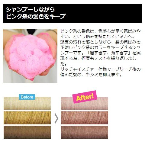 カラーシャンプー ピンク 300ml ブライセス ロイド ( シャンプー ...