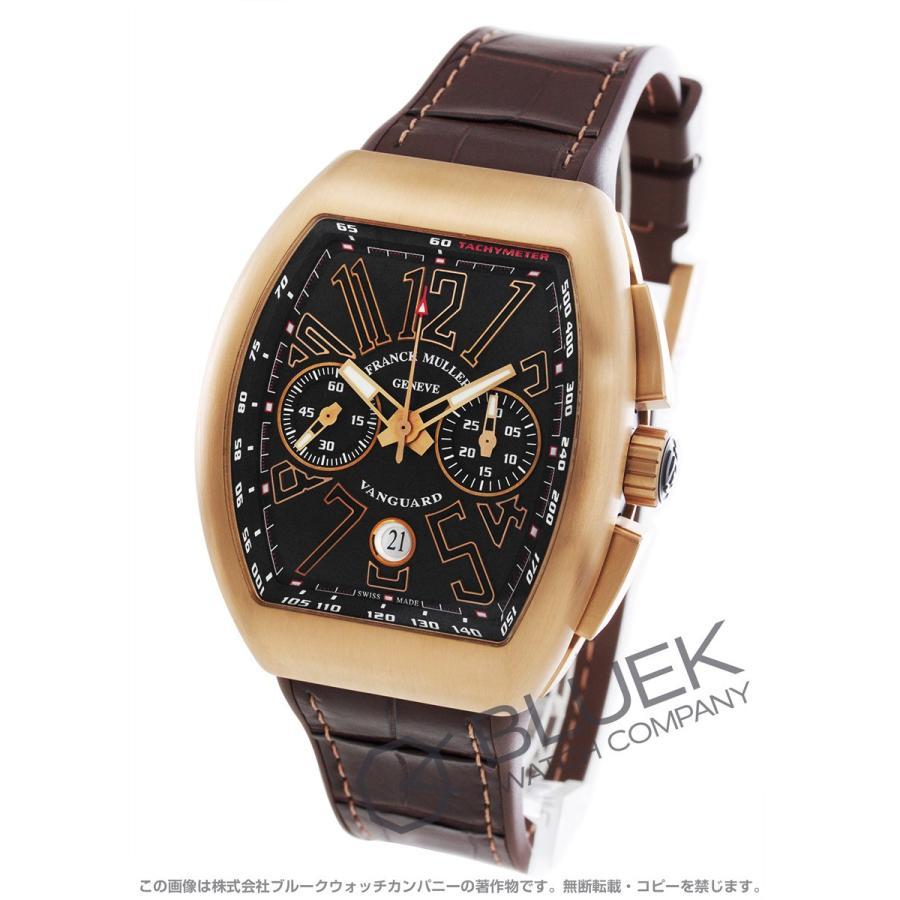 美しい フランクミュラー ヴァンガード クロノグラフ PG金無垢 クロコレザー 腕時計 メンズ FRANCK MULLER V 45 CC DT 5N BR NR[FMV45CCBRPGBKLZBR], ヌカタグン baff26e7