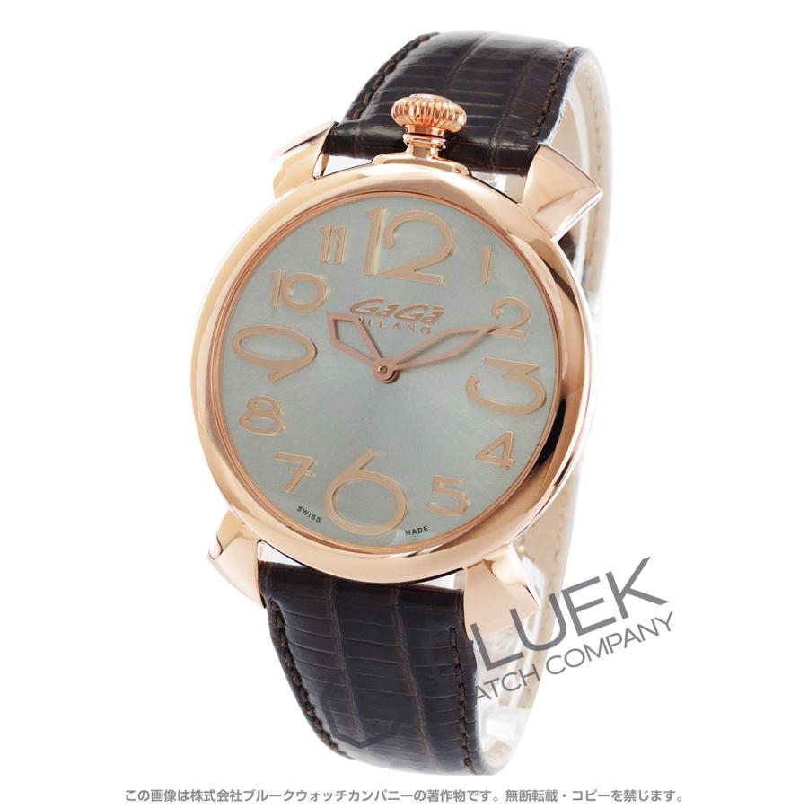 【ファッション通販】 ガガミラノ マヌアーレ シン46MM リザードレザー 腕時計 メンズ GaGa MILANO 5091.04, コウヤギチョウ 737cc9a2