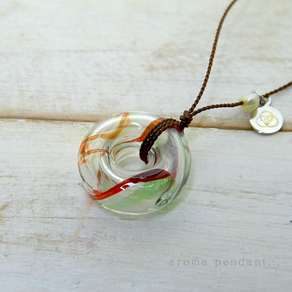 アロマペンダント アロマネックレス ガラス アロマデュフューザー 赤 ギフト bluelace