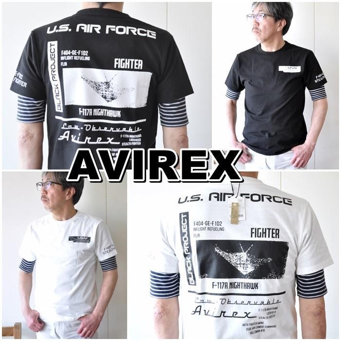 AVIREX  アビレックス  半袖Tシャツ  6103419 メンズ Tシャツ アメリカ空軍|blueline