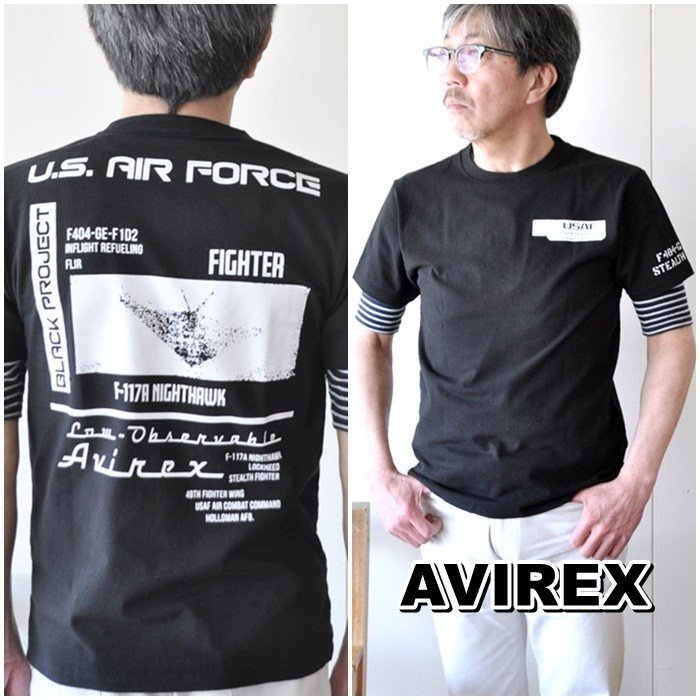 AVIREX  アビレックス  半袖Tシャツ  6103419 メンズ Tシャツ アメリカ空軍|blueline|02