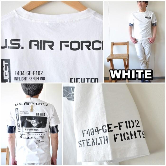 AVIREX  アビレックス  半袖Tシャツ  6103419 メンズ Tシャツ アメリカ空軍|blueline|09