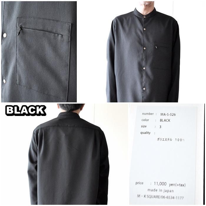MANUAL   MANUALALPHABET マニュアルアルファベット バンドカラーシャツ MAS526 blueline 11