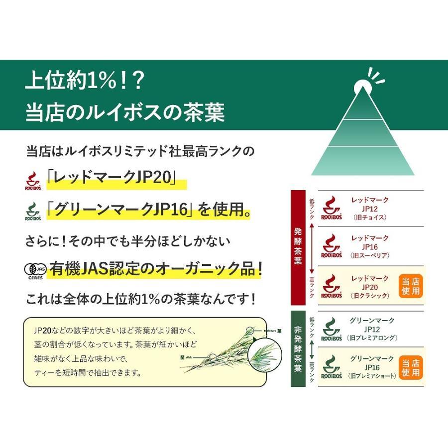 グリーンルイボスティー 51包 最高級茶葉JP16使用 テトラパック 入れっぱOK 有機栽培 ノンカフェイン 水出しOK bluemoon-herb 04