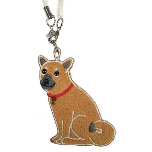 柴犬 ワッペンクリーナー 携帯ストラップ 携帯ピアス シバケン 犬 ワッペン 犬グッズ 犬雑貨|bluereef