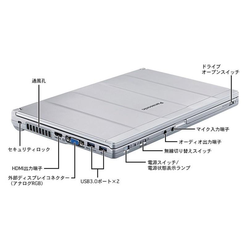 新品SSD256GB メモり8GB Panasonic Let's note CF-SX3 第四世代 Core i5 Windows10 pro 64bit Office Bluetooth DVD-RW 訳あり|bluesky-eshop|02