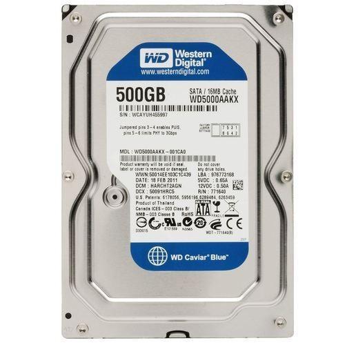 "Western Digital WD Blue WD5000AAKX 500GB 3.5/"" SATA III Desktop HDD"