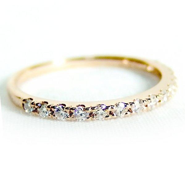 高速配送 ダイヤモンド リング ハーフエタニティ 0.2ct 8.5号 K18 ピンクゴールド ハーフエタニティリング 指輪, オーエム産業 779ad4a1
