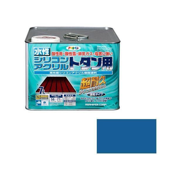 アサヒペン AP 水性シリコンアクリルトタン用 7L スカイブルー