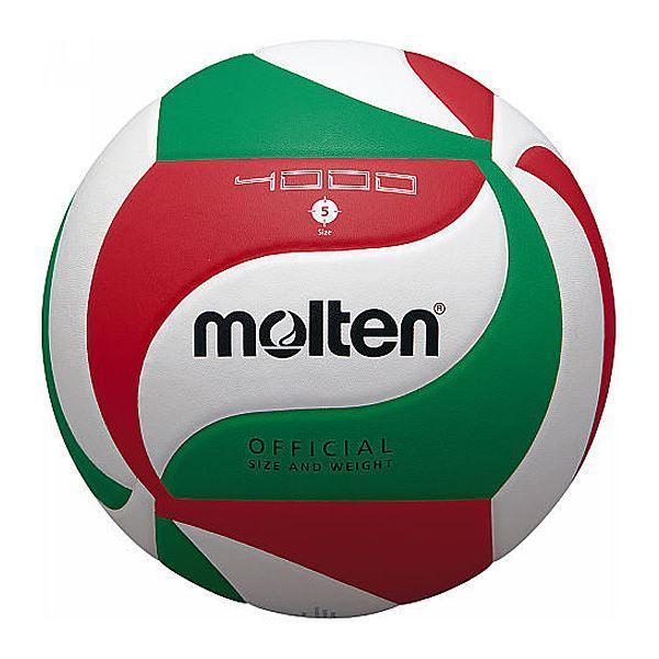 〔モルテン Molten〕 バレーボール 〔5号球〕 人工皮革 吸汗性 V5M4000 〔運動 スポーツ用品〕