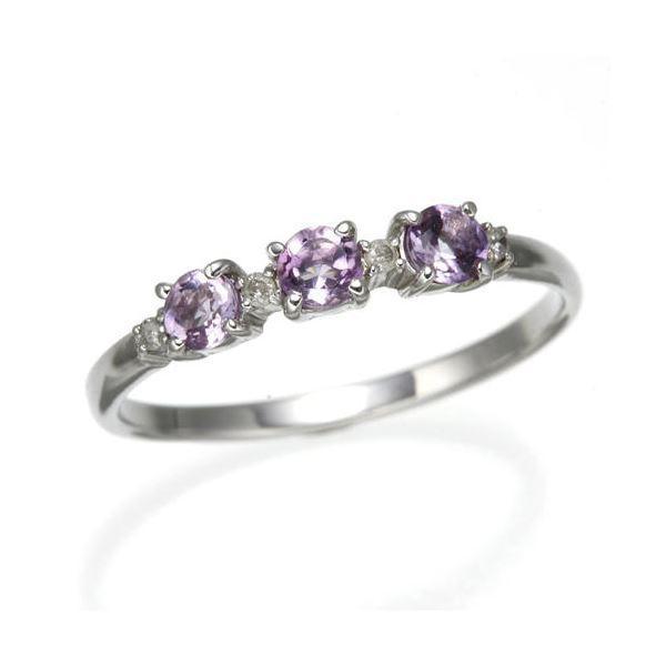 【通販 人気】 アメジストデザインリング 7号 指輪, あすに届けるお花屋さん輝花 15f7751a