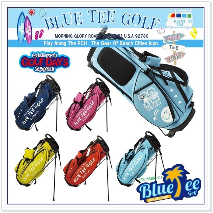 ☆送料無料ブルーティーゴルフ BLUE TEE GOLF 【ストレッチ スタンド キャディーバッグ 003】 9型  【Tokyo 新橋店】