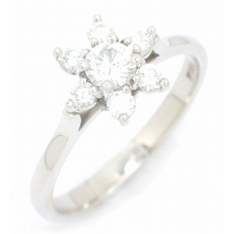 お気に入りの (ジュエリー)TIFFANY&Co. ティファニー バターカップ リング 指輪 Pt950 プラチナ ダイヤモンド ダイヤリング 12号 #12 (u), ハナマキシ ee5e1960