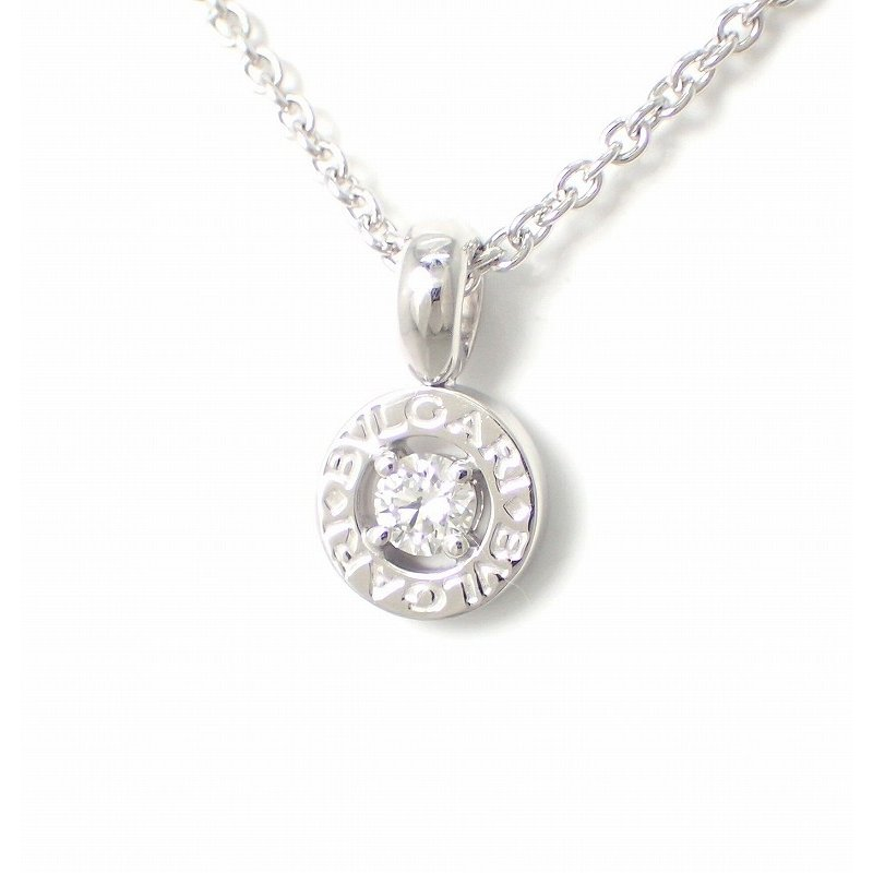 流行に  (ジュエリー)BVLGARI ブルガリ ブルガリブルガリ ダイヤモンド ネックレス ペンダント K18WG 750WG ホワイトゴールド 340614(u), きものレンタル専門店Kisste 054f1d2b
