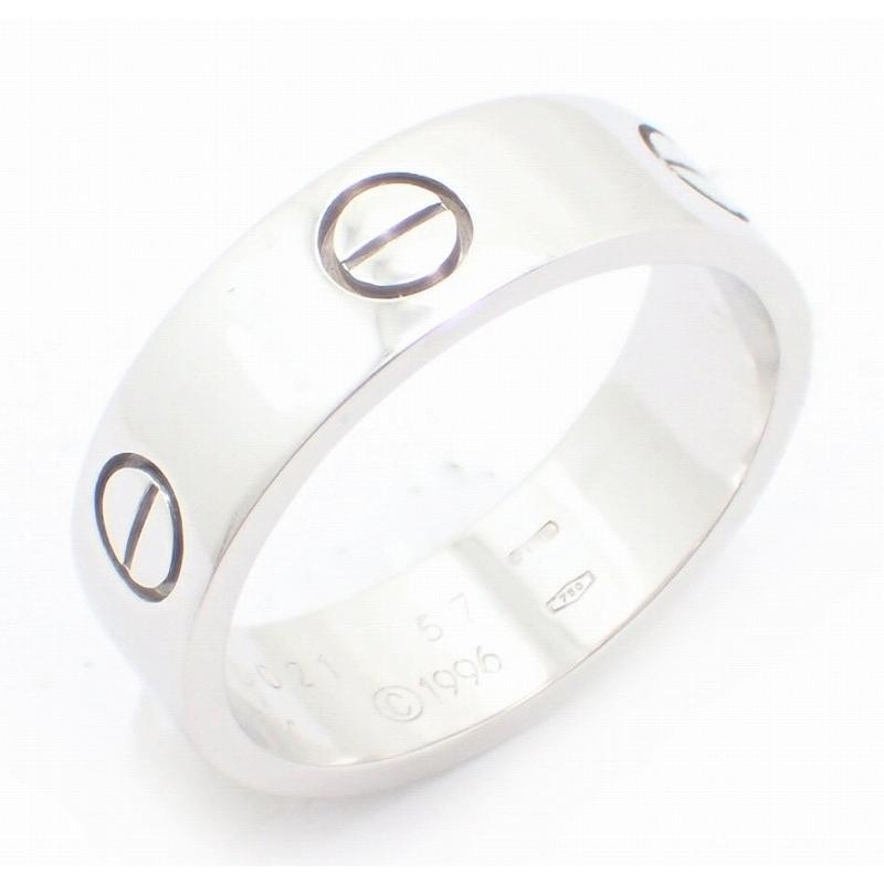 【お気にいる】 (ジュエリー)Cartier カルティエ ラブリング LOVE 17号 #57 K18WG 750WG ホワイトゴールド リング 指輪 B4084700 B4084757(u), 【特別訳あり特価】 6fdff9f5