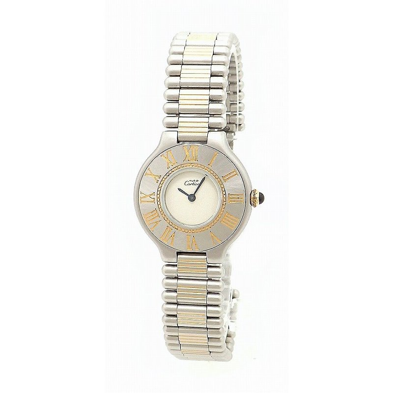 【50%OFF】 (ウォッチ)Cartier カルティエ マスト21 マスト ヴァンティアンSM SS GP レディース QZ クォーツ 腕時計 (k), 雛人形五月人形のばぶちゃん 5bdb4146