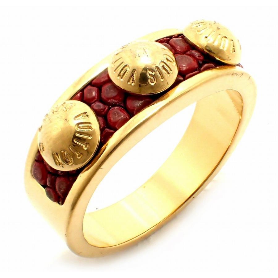 【激安セール】 (ジュエリー)LOUIS VUITTON ルイ ヴィトン バーグ ギミア クルーリング 指輪 Mサイズ ゴールド #11.5 M66421(k), はだぎくつ下屋 3dd36c8f