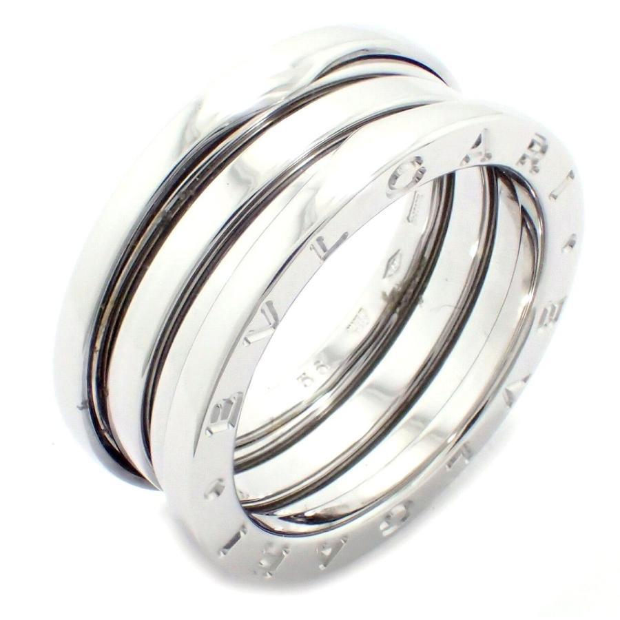 最上の品質な (ジュエリー)BVLGARI ブルガリ B.zero1 B-zero1 Bzero1 ビーゼロワン 3バンドリング 指輪 16号 #56 K18WG ホワイトゴールド Sサイズ AN191024(k), 菖蒲町 003959b8